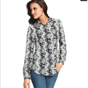 Cabi womens blouse Snakeskin Blouse 1102